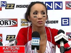 Baseball Asian Star Katsuni Fucks a Fan In the Locker Room