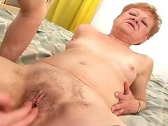 Horny Grandma Gets Fucked and Creampied By a Dude!