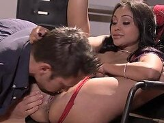 Busty Indian Beauty Priya Rai Gets Cum on Her Tits after Sex in the Office