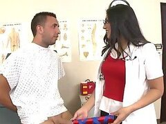 Busty and Sexy Doctor Rescues A Big Cock From a Chinese Finger Trap