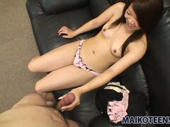 Nasty brunette teen Shiori Shimizu gets sensuously fingered on POV video