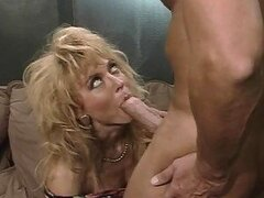 Nina Hartley sucks Peter North's cock before and after riding it