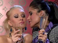 Champagne Showers and Hot Lesbian Sex With Carla Cox and Nessa Devil