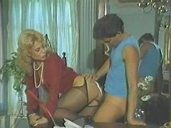Horny Blonde MILFs Suck and Fuck a Young Cock in a Hot Vintage Porn Clip