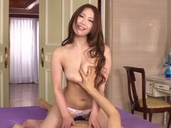 Asian cutie gets the ride of her pretty little life