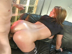 Claire Dames and her perfect ass will put on a show for us that you will never forget.! This anal queen does it all with ease. These huge tits pop out of her bra for starters and then everything on her just blossoms with sexuality. This lucky dude puts hi