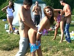 Outdoors Orgy with Sexy and Randy Teens