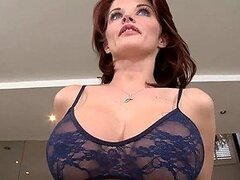 Redhead MILF Joslyn James gave her Golf Instructor a Blowjob