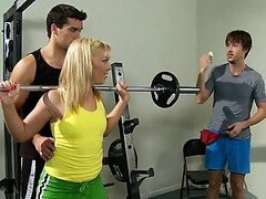 Blonde Teen Ally Kay Fucking Her Brother's Gym Instructor